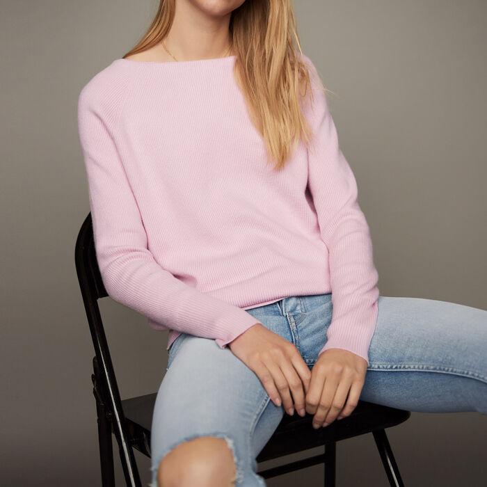 Pullover con scollo sul retro : Nuova collezione colore LILA