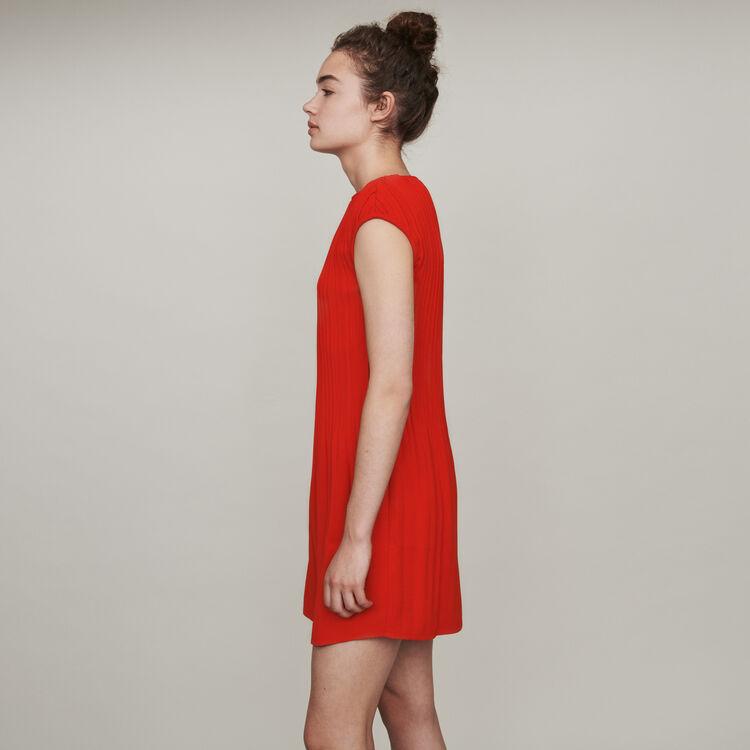 Vestito plissettato senza maniche : Vestiti colore Rosso
