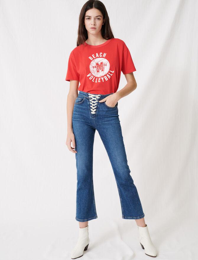 Jeans in denim blu da allacciare -  - MAJE