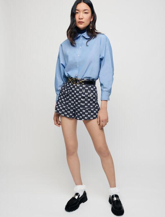 Short in jacquard con fiocchi : Gonne e shorts colore Noeuds Marine