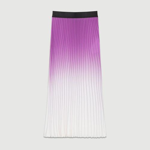 Gonna plissettata Tie & Dye : Gonne e shorts colore Violetto