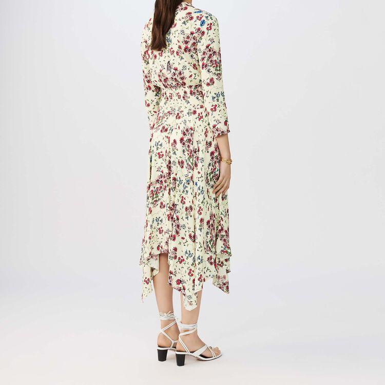 Vestito asimmetrico tampato in crêpe : Vestiti colore IMPRIME