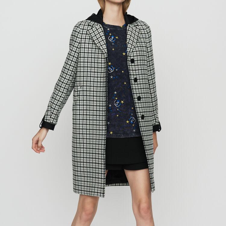Cappotto dritto con stampa pied-de-poule : Cappotti colore CARREAUX