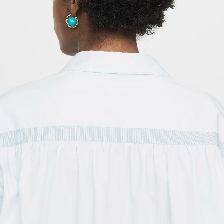 Camicia oversize con gros-grain : Nuova Collezione colore Ceruleo
