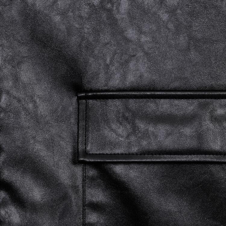 Giubbotto effetto pelle : Giubbotti colore Nero