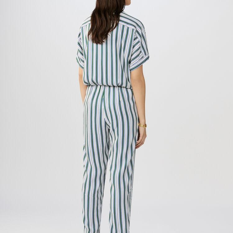 Striped jumpsuit : Pantaloni colore A Righe