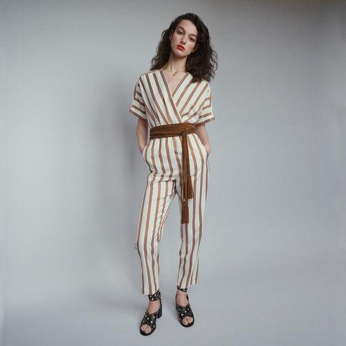 Tuta pantalone e righe : Pantaloni e Jeans colore A Righe