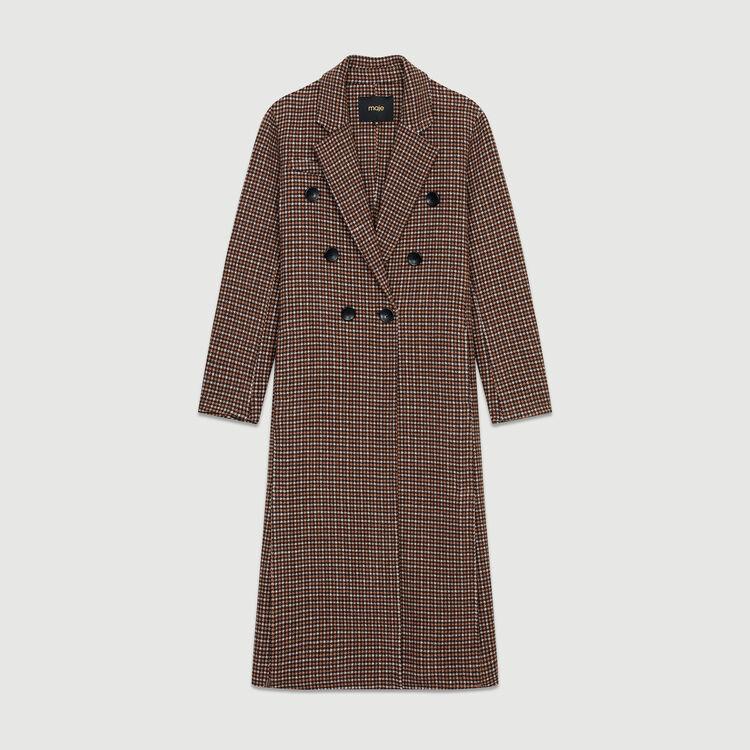 Cappotto in lana con stampa : Cappotti colore CARREAUX