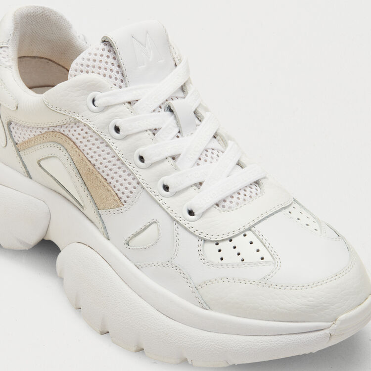 Sneakers W20 urbane in pelle : Jumpsuits colore Bianco