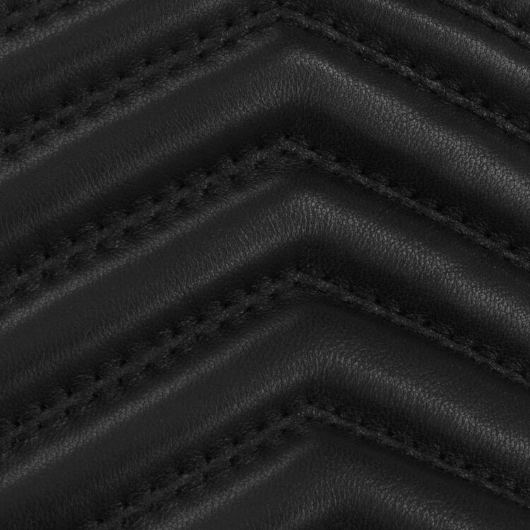 Marsupio in pelle con dettagli : Altre M colore Nero