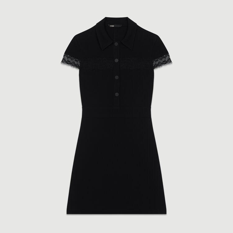 Scamiciato in crêpe : Vestiti colore Nero