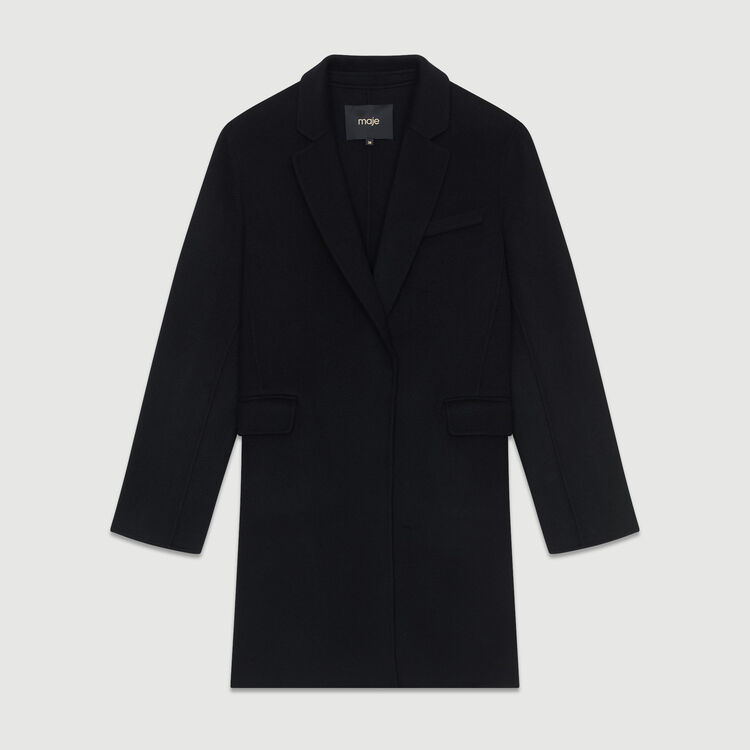 Cappotto in lana double face : Cappotti colore Nero