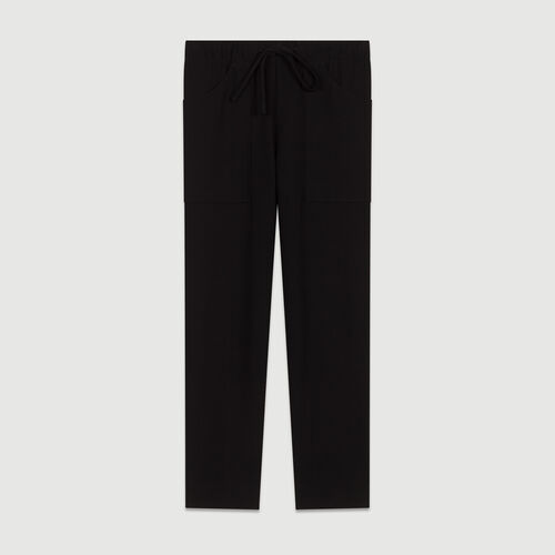 Straight cut trousers : Pantaloni colore Blu Marino