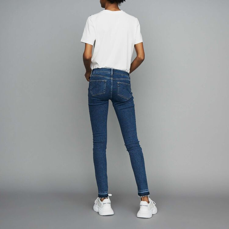 Jeans skinny in denim : Jeans colore Denim