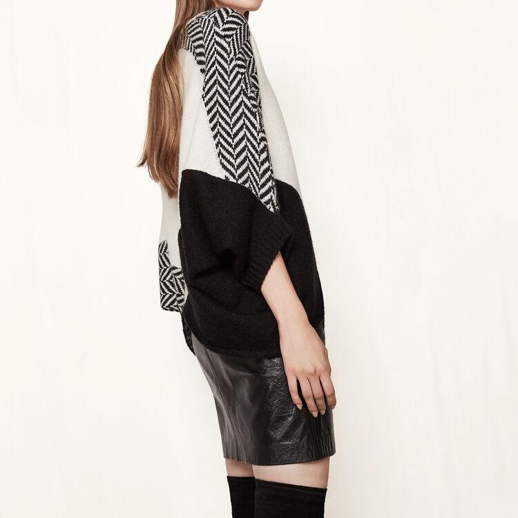 Abito stile poncho con maglie diverse : Black friday colore Bicolore