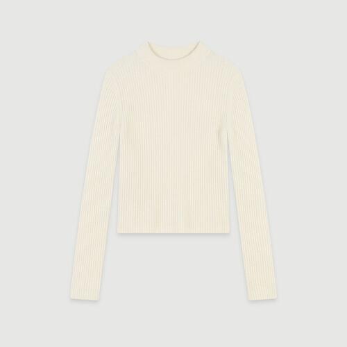 Pull corto a coste : Pullover e cardigan colore Ecru