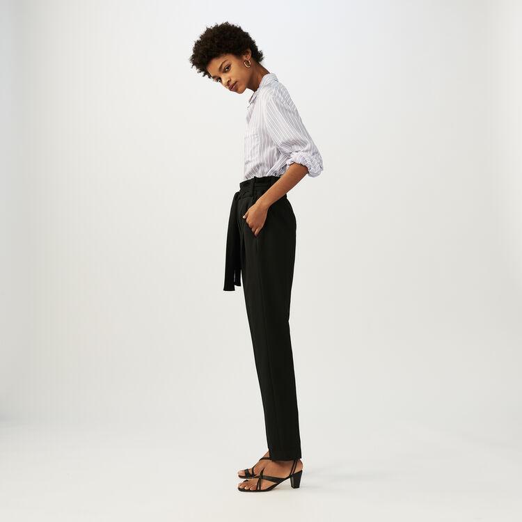 Pantaloni a carota con cintura : Office girl colore Nero