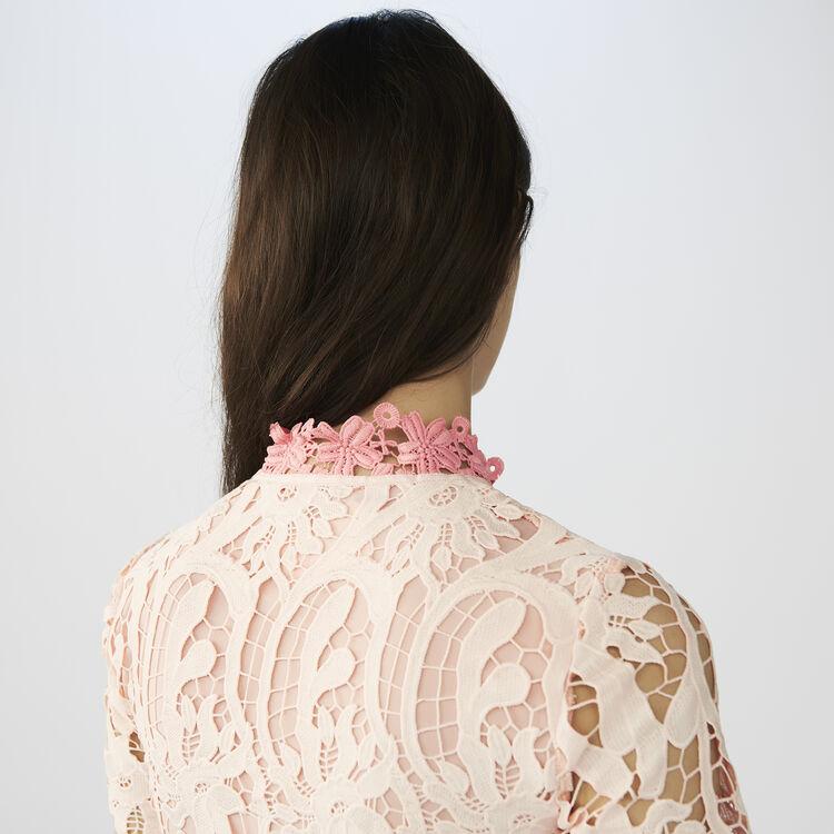 Vestito corto in tessuto tecnico : Vestiti colore Rosa