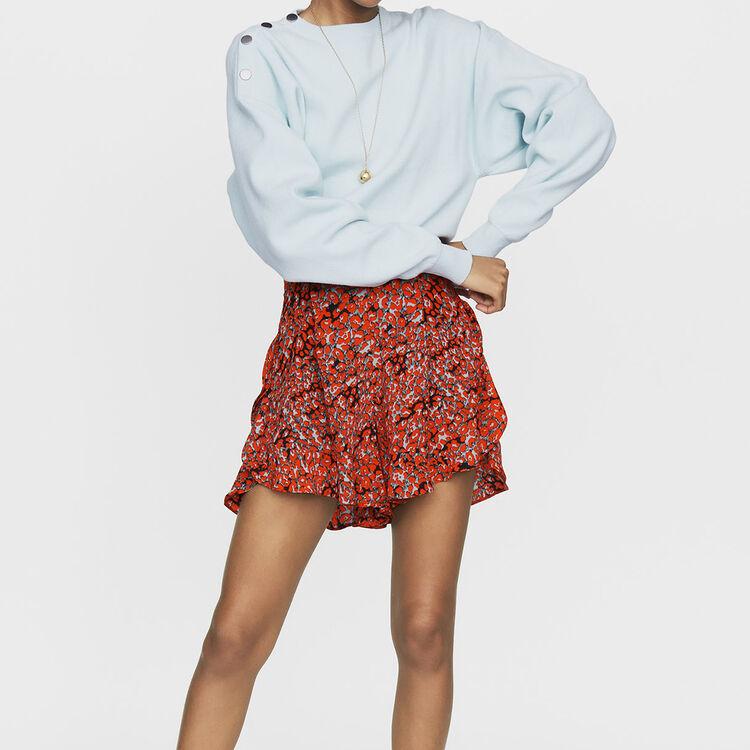 Pantaloncini stampati con volant : Gonne e shorts colore IMPRIME
