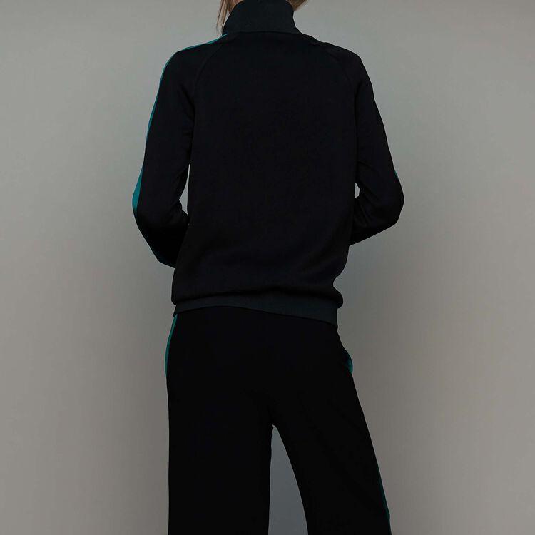 Giacca bicolore stile sportivo : Prêt-à-porter colore Nero