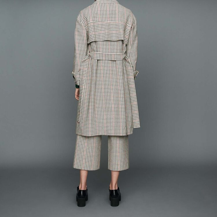 Cappotto dritto a quadri : Prêt-à-porter colore CARREAUX