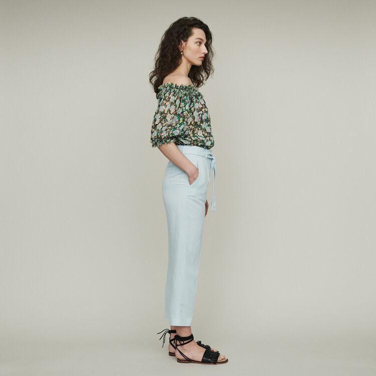 Pantaloni con pince : Pantaloni e Jeans colore Ceruleo