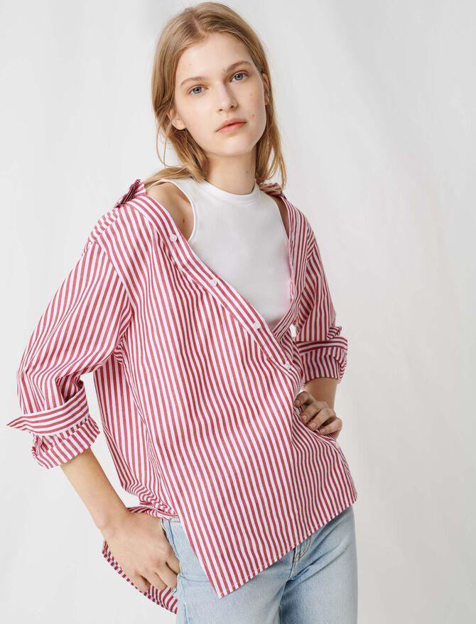 Top a maniche corte stile foulard - Tops e Camicie - MAJE