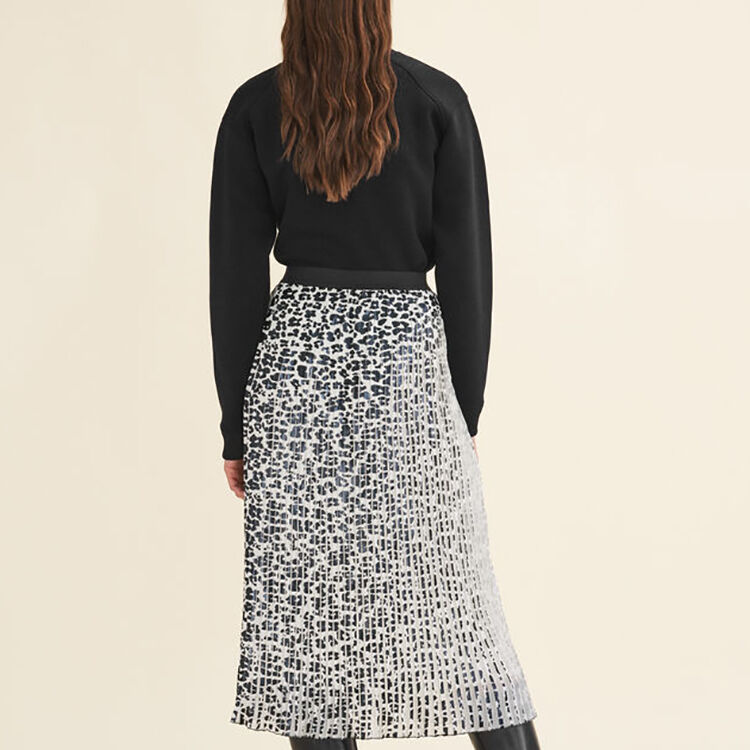 Gonna plissettata con stampa leopardata : Gonne e shorts colore IMPRIME