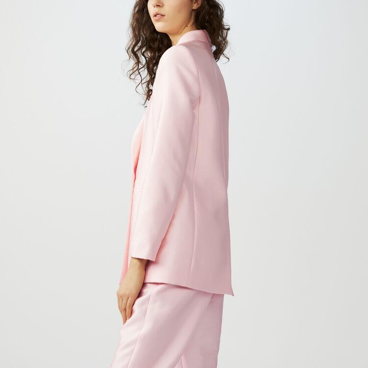 Blazer in tessuto satinato : Giacche colore Rosa