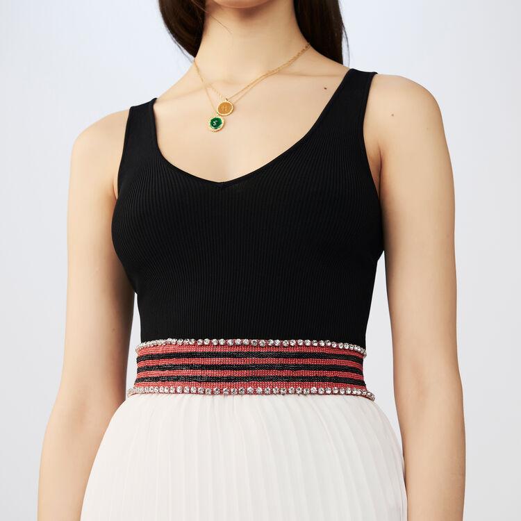 Vestito lungo plissettato bicolore : Vestiti colore Bicolore