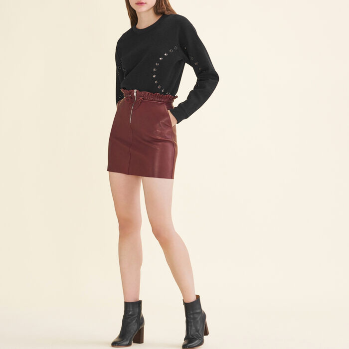 Gonna in pelle con zip - Gonne e shorts - MAJE