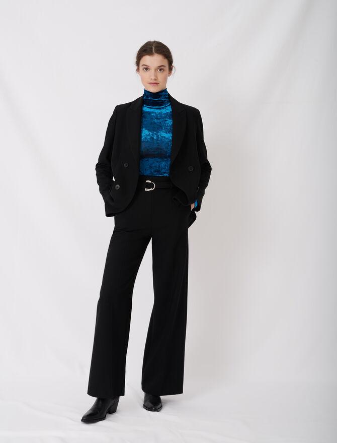 Pantalon large avec ceinture - Pantaloni e Jeans - MAJE