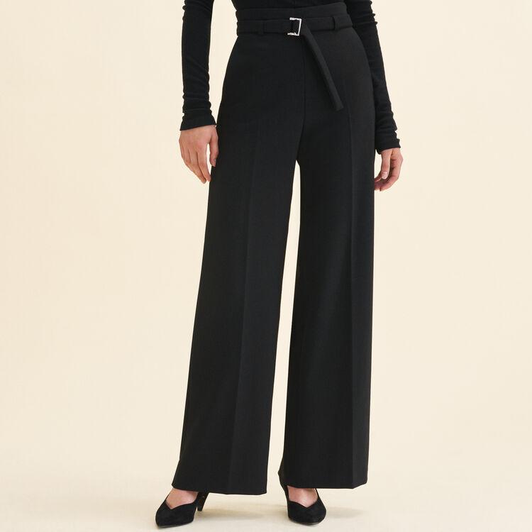 Pantaloni larghi a vita alta : Pantaloni e Jeans colore Nero