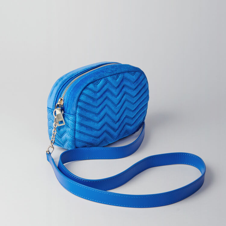Quilted velvet shoulder bag : Sami bag colore Blu