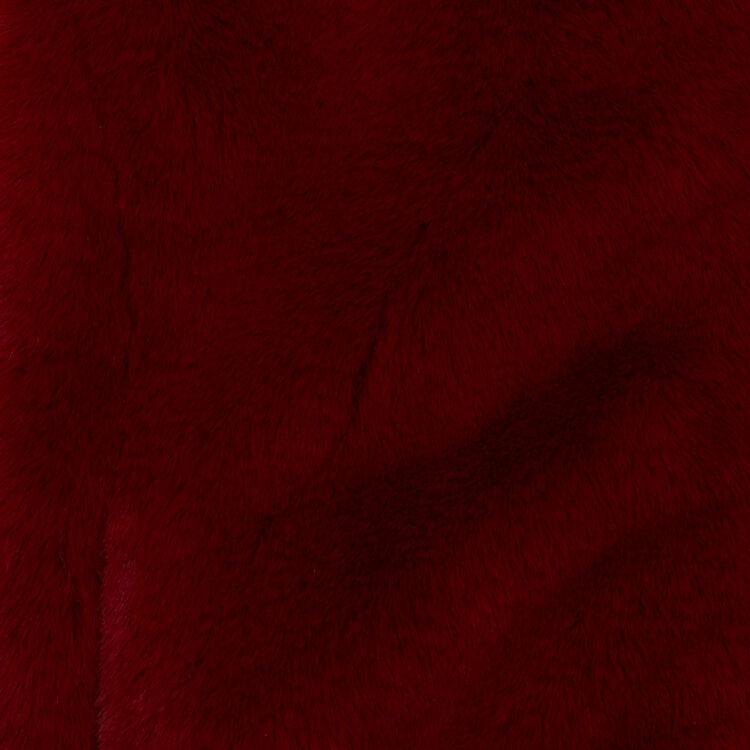 Giubbotto corto in finta pelliccia : Giubbotti colore Lampone