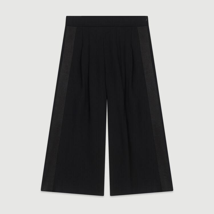 Pantaloni larghi in crêpe : Pantaloni e Jeans colore Nero