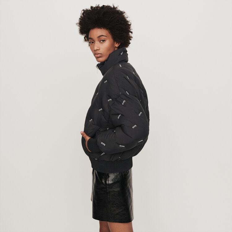 Piumino corto ricamato : Cappotti e Giubbotti colore Nero