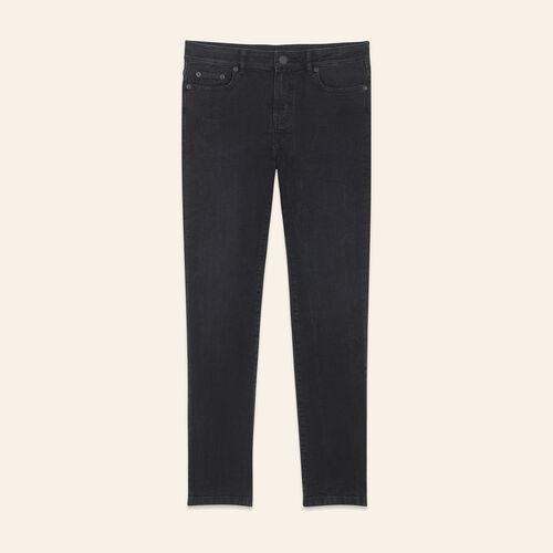 Jeans corto linea dritta : Pantaloni & jeans colore Nero