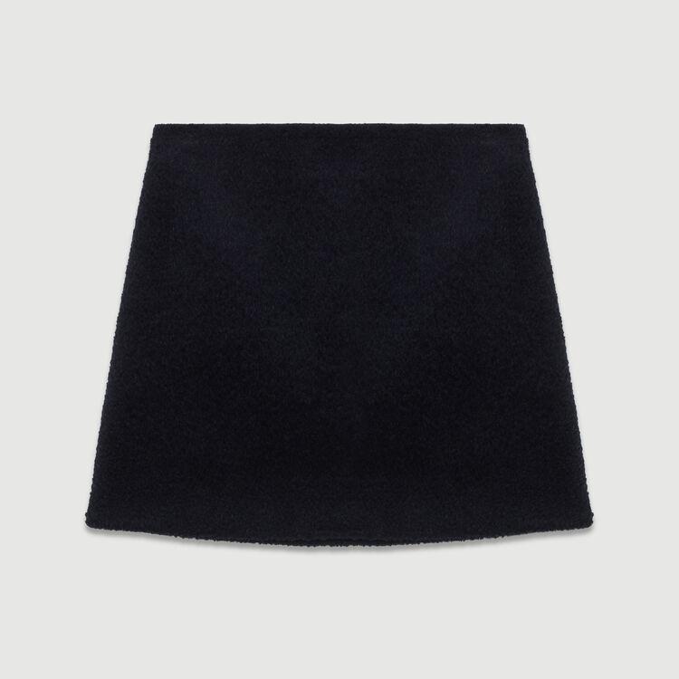 Gonna corta in alpaca : Gonne e shorts colore Blu Marino