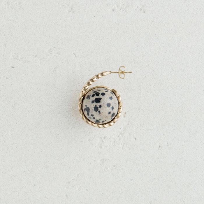 Orecchino sinistro  in pietra naturale : Nuova collezione colore Bianco Sporco