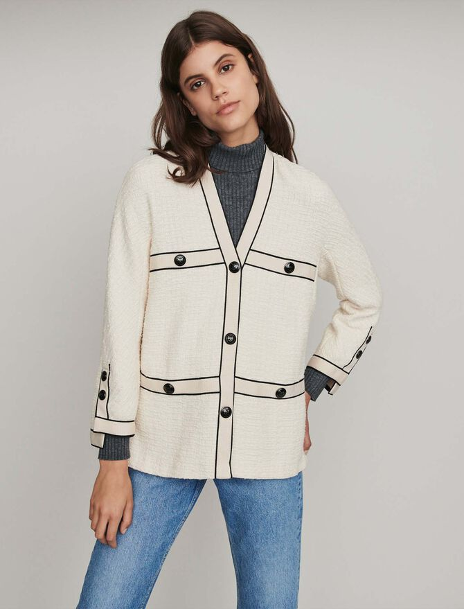 Giacca stile tweed a contrasto - Coats & Jackets - MAJE