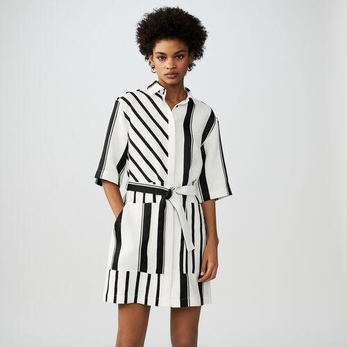 Bicolor shirt dress : Vestiti colore A Righe