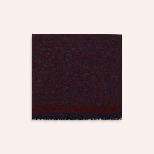 Sciarpa stampa leopardo : Sciarpe e Foulard colore Rosa Tenue