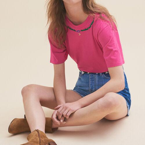 T-shirt ricamata Venerdì : T-shirts colore Rosa