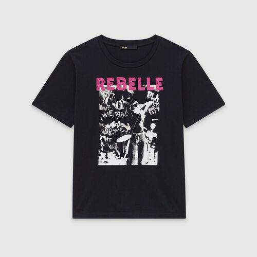 Tee-shirt con serigrafia : Collezione Inverno colore Bianco
