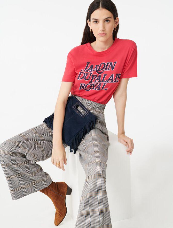 Pantaloni elasticizzati a quadri - Pantaloni e Jeans - MAJE