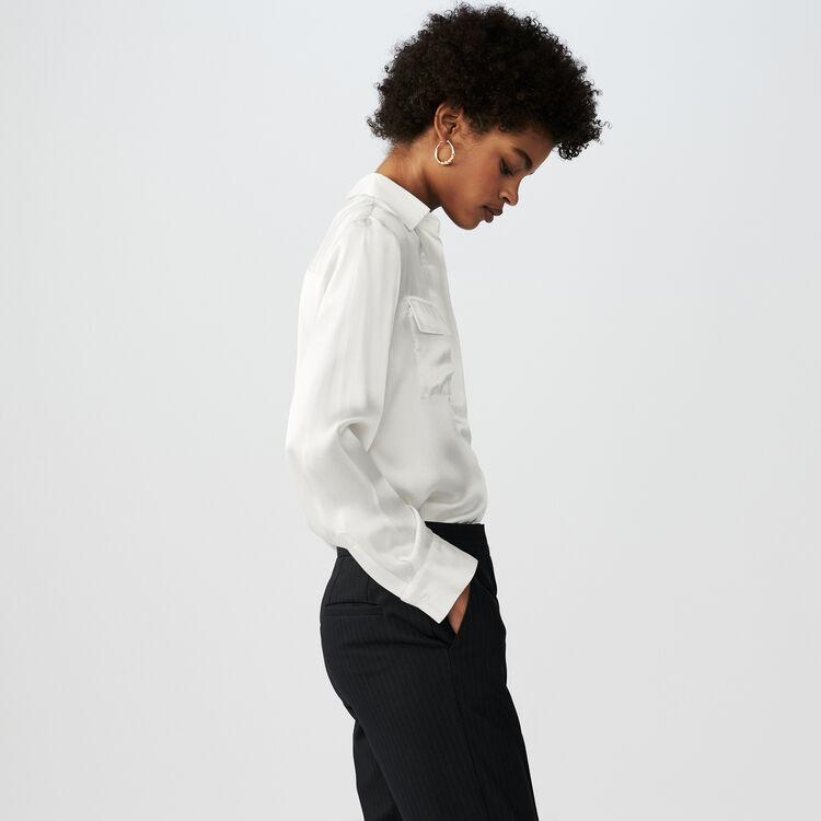 Camicia fluida in seta : Camicie colore Bianco