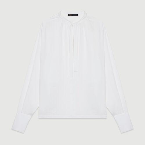Blusa in crêpe : Tops colore Ecru