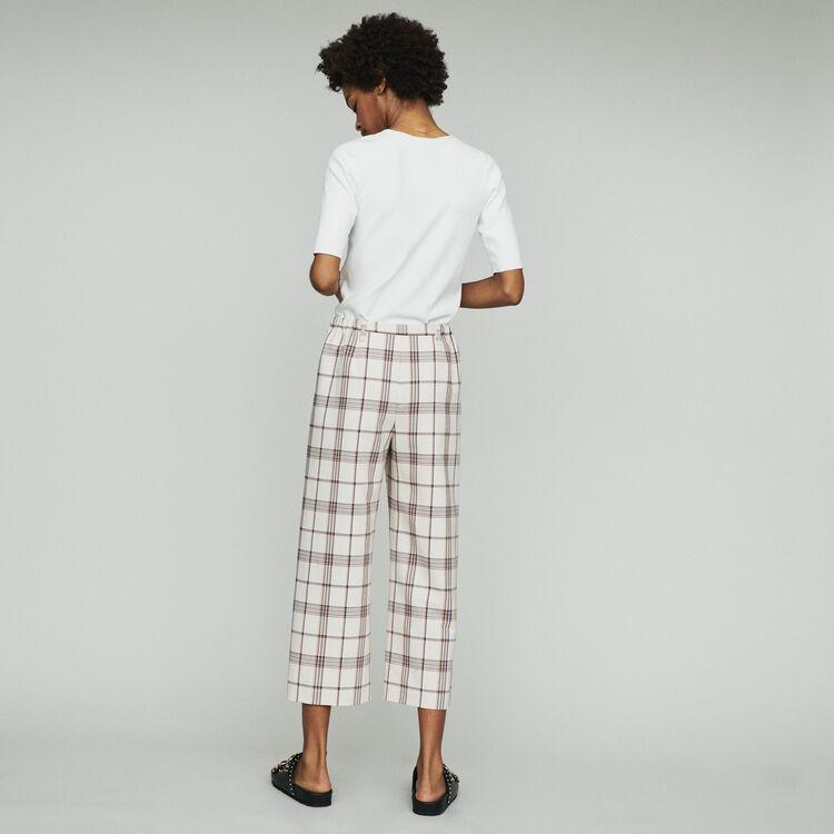 Pantalone largo a quadri : Pantaloni colore CARREAUX