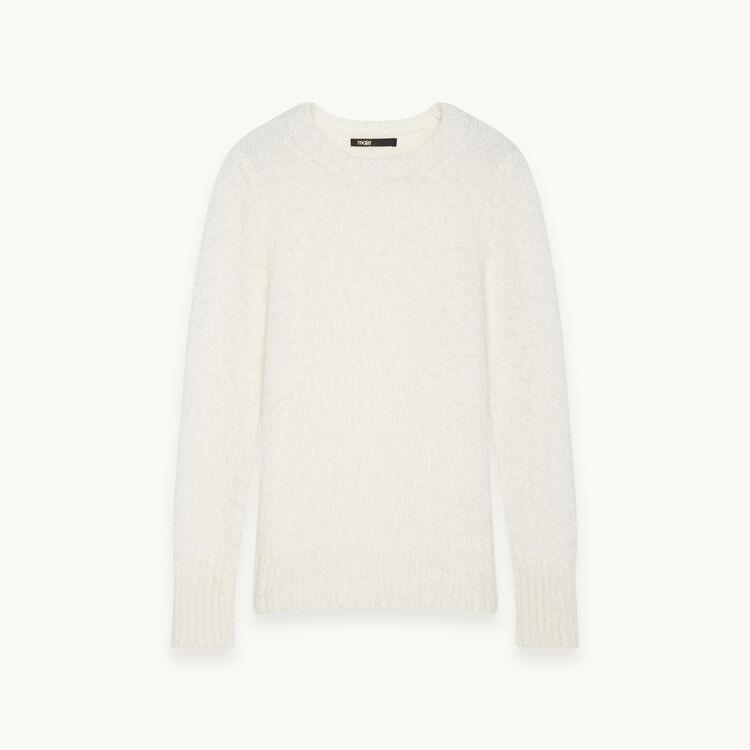 Pullover in maglia soffice : -70% colore Ecru